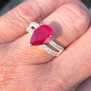 🆕List! Pink Topaz Pear Shaped Ring! NEW!